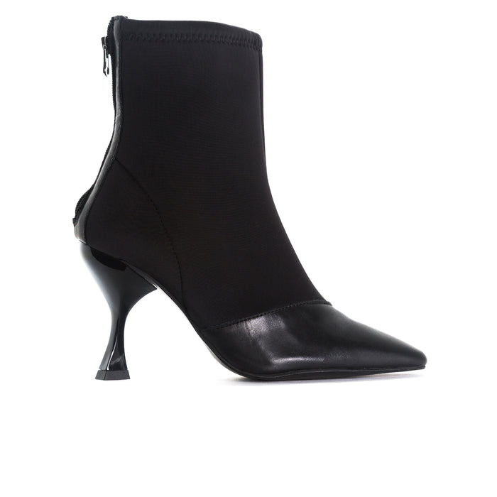 Sarti Black Leather/Neoprene Booties