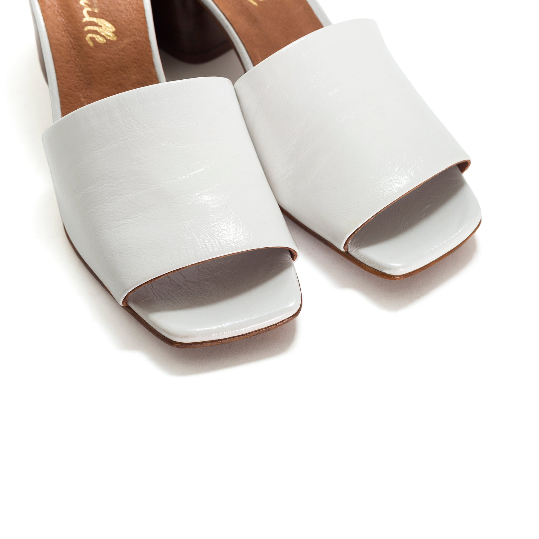 Shanaya White Leather Sandals