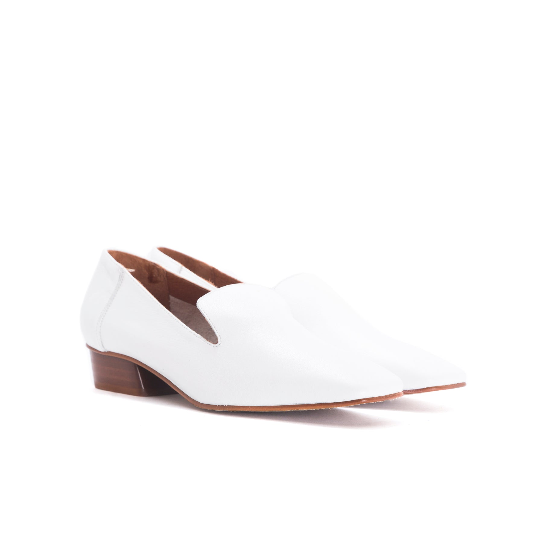 Shaya White Leather Shoes