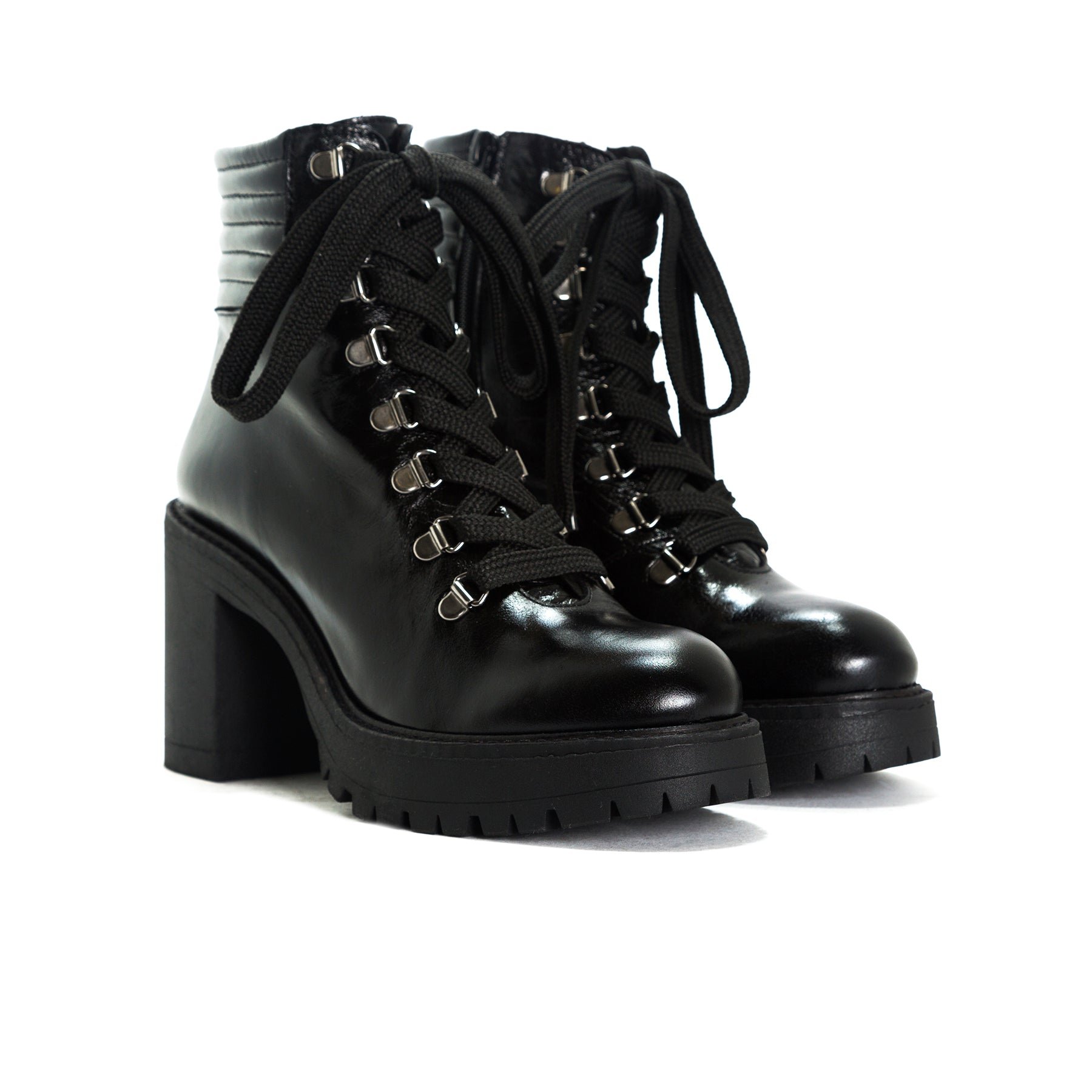 Sickla Black Leather Platforms