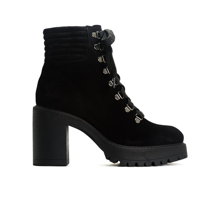 Sickla Black Suede Platforms