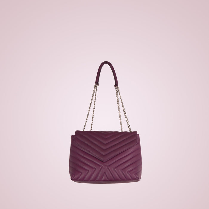 Melpo Purple Leather