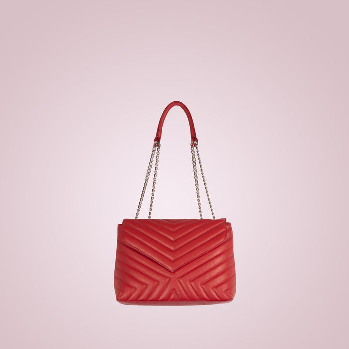 Melpo Red Leather