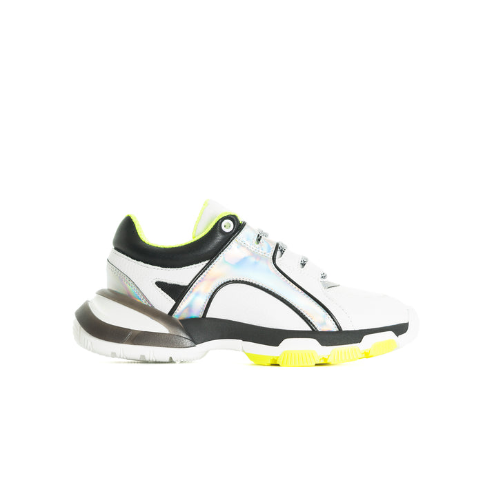 Slick Neon&White Leather Sneakers