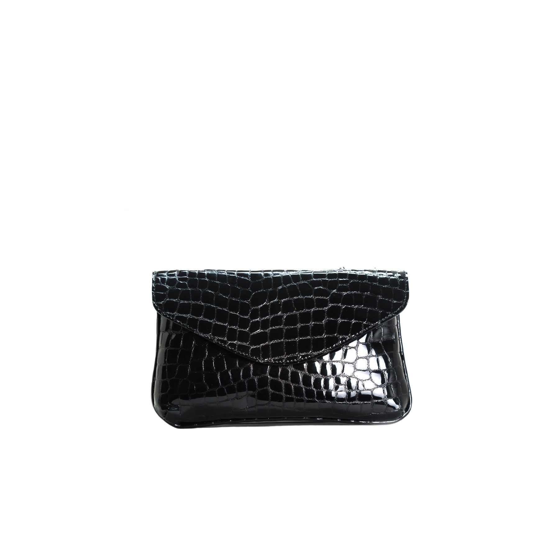 Astrid Black Croco Shoulder Bags