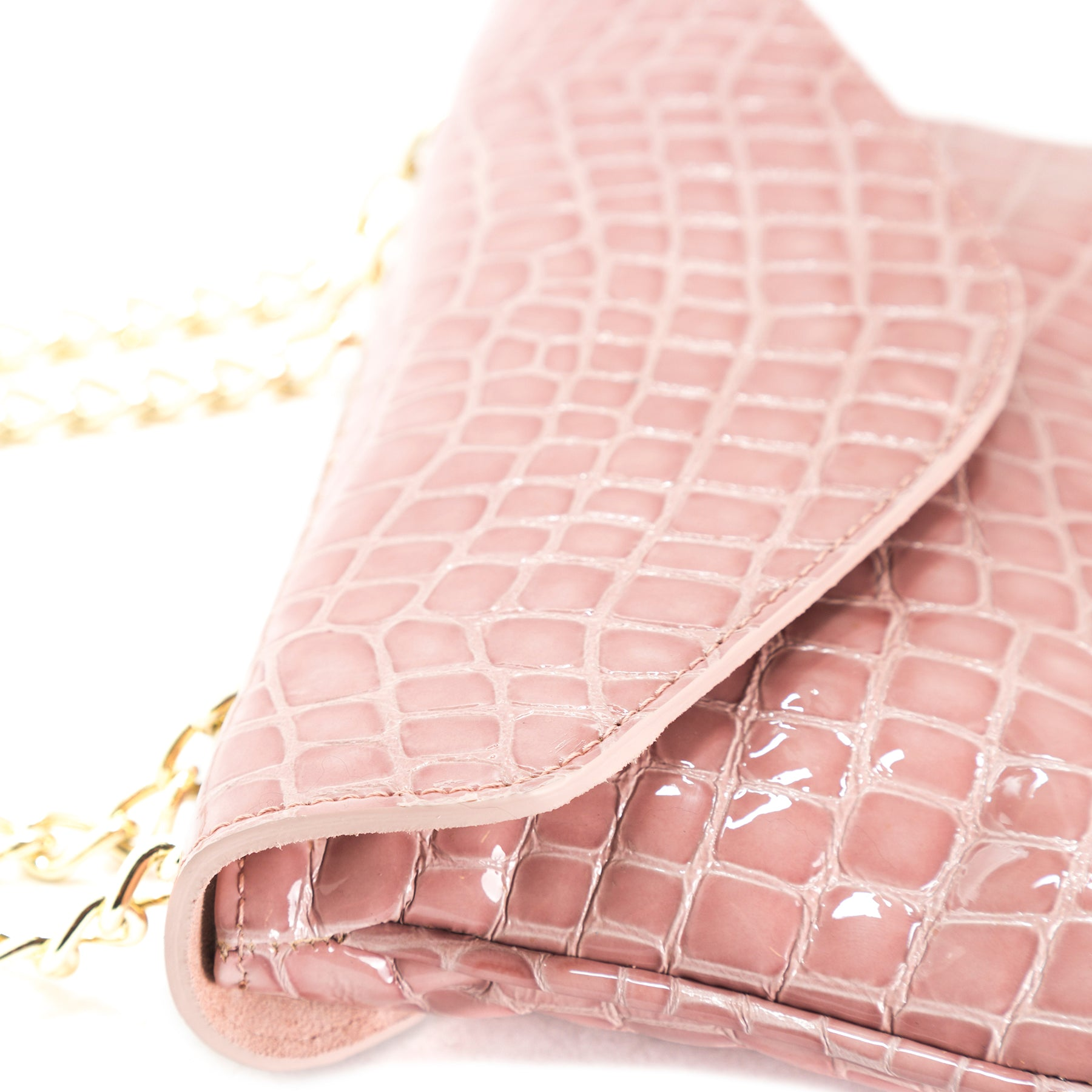 Astrid Pink Croco Shoulder Bags