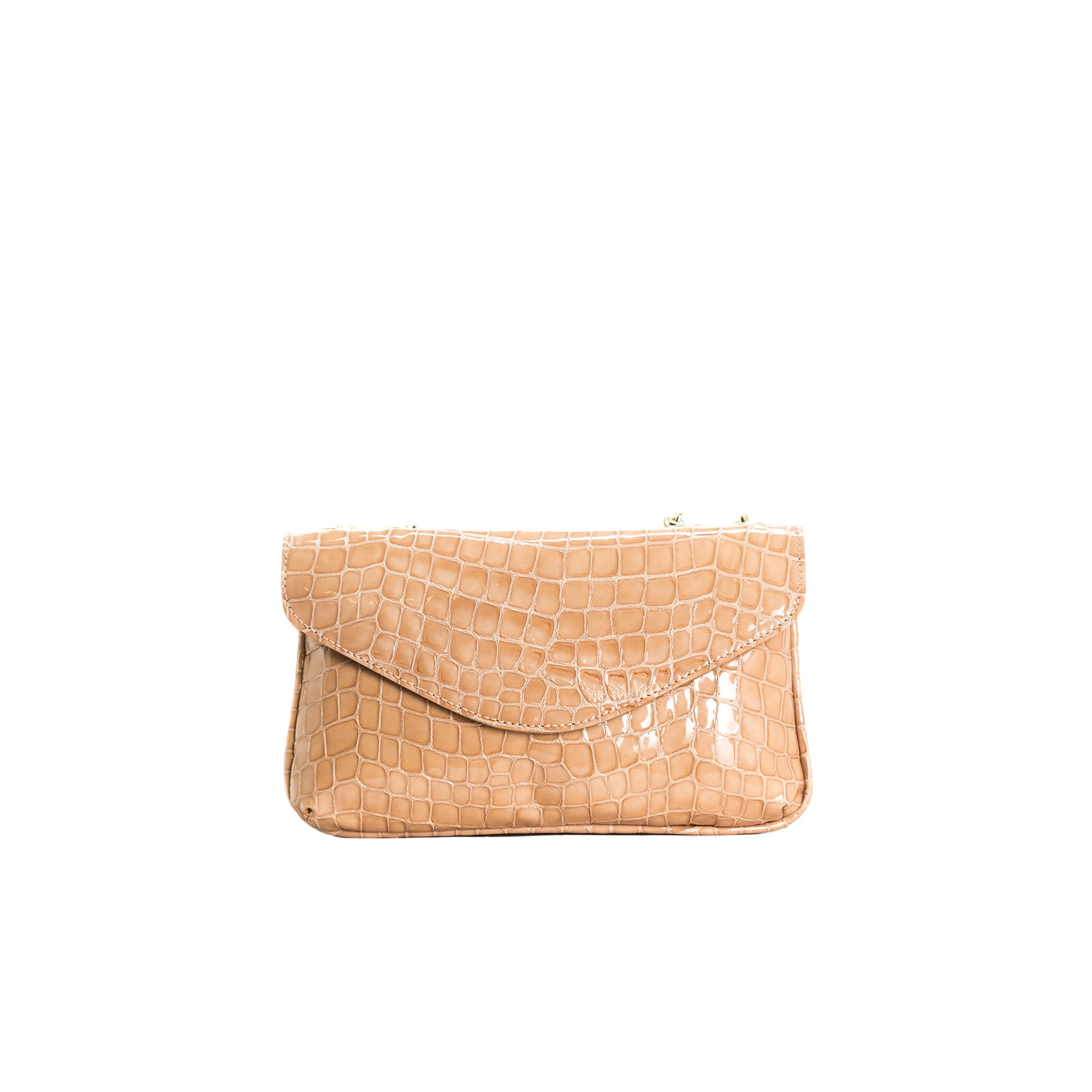Astrid Tan Croco Shoulder Bags
