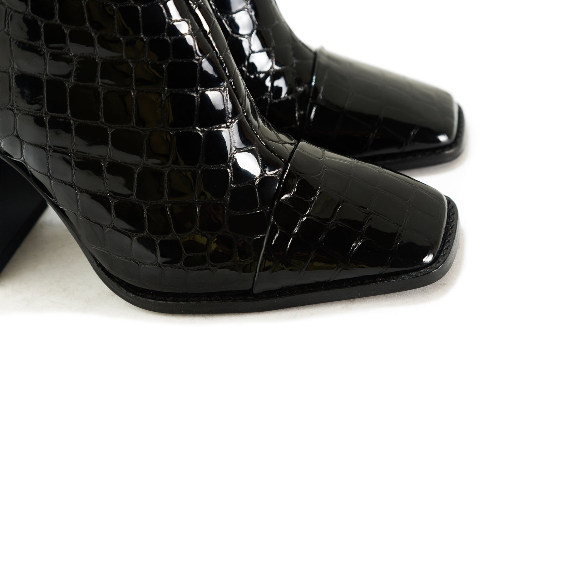 Sorrento Black Croco Booties