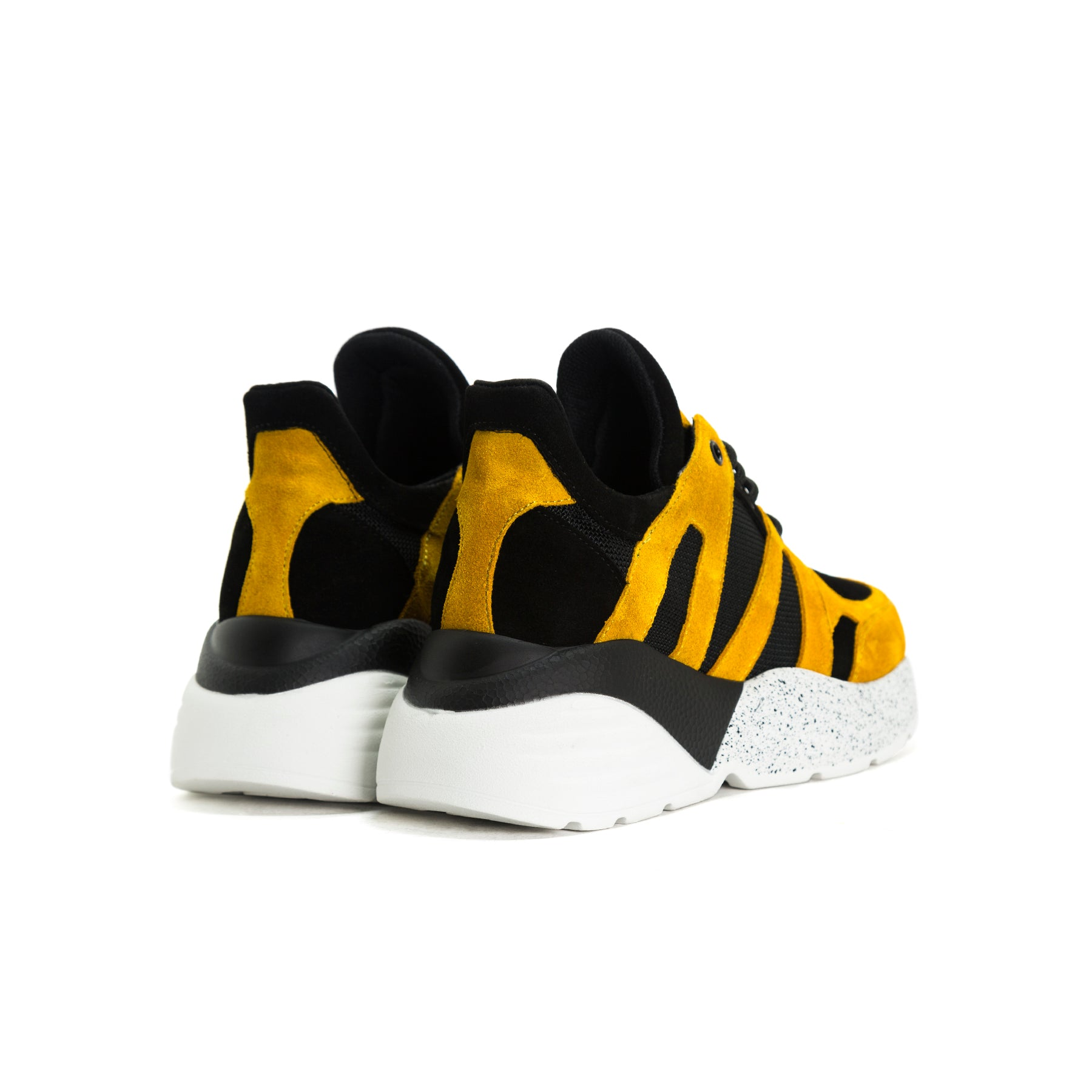 Star Black&Tan Combo Leather Sneakers