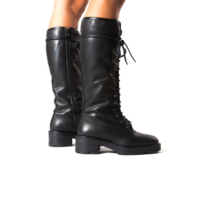 Stockholm Black Leather Boots