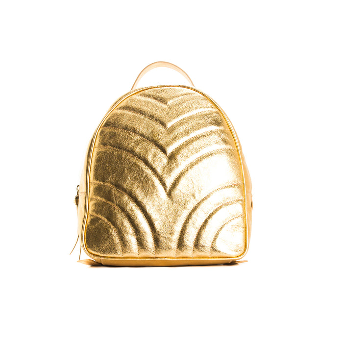 Foie Gold Leather Backpacks