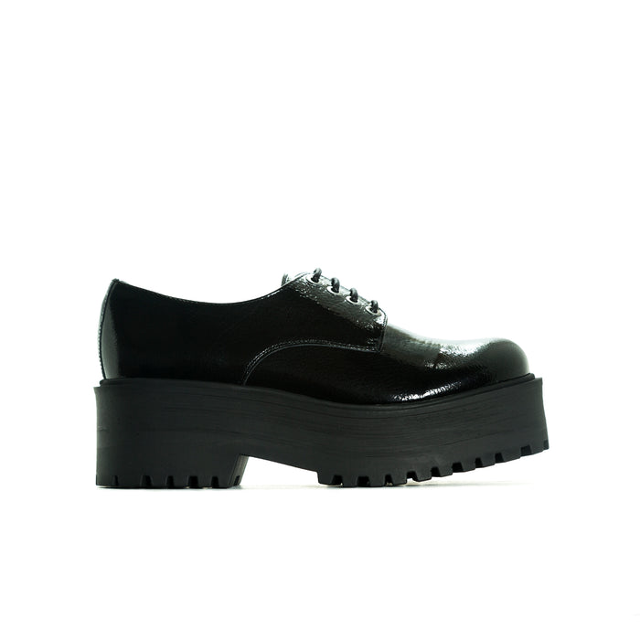 Taffy Black Patent Platforms