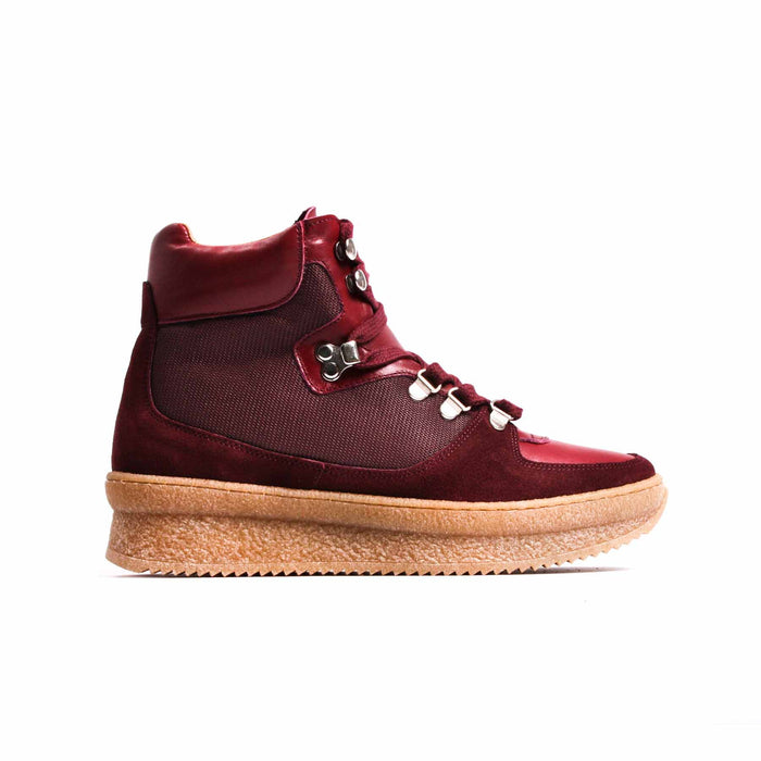 Paden Burgundy Leather & Suede
