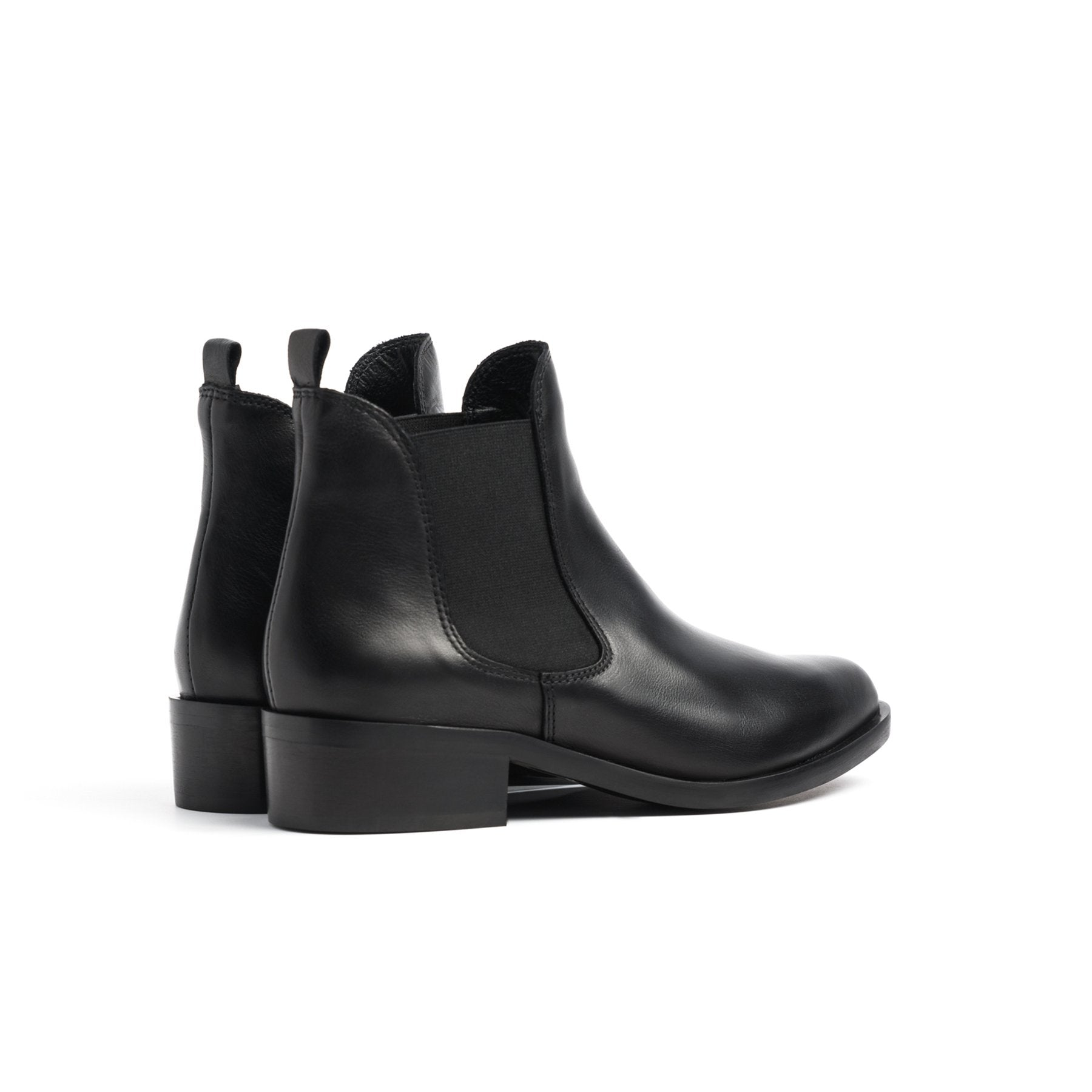 Teesha Black Leather Boots