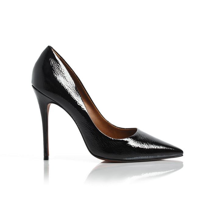 Teeva Black Naplack Pumps