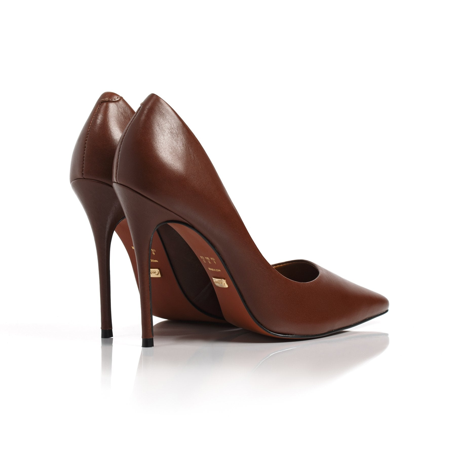 Teeva Brown Leather Pumps