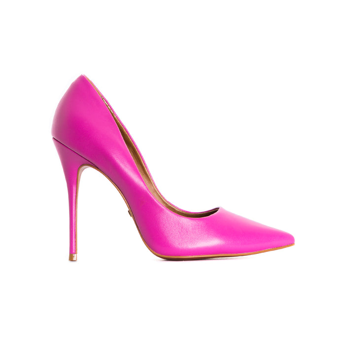 Teeva Fuchsia Leather Pumps