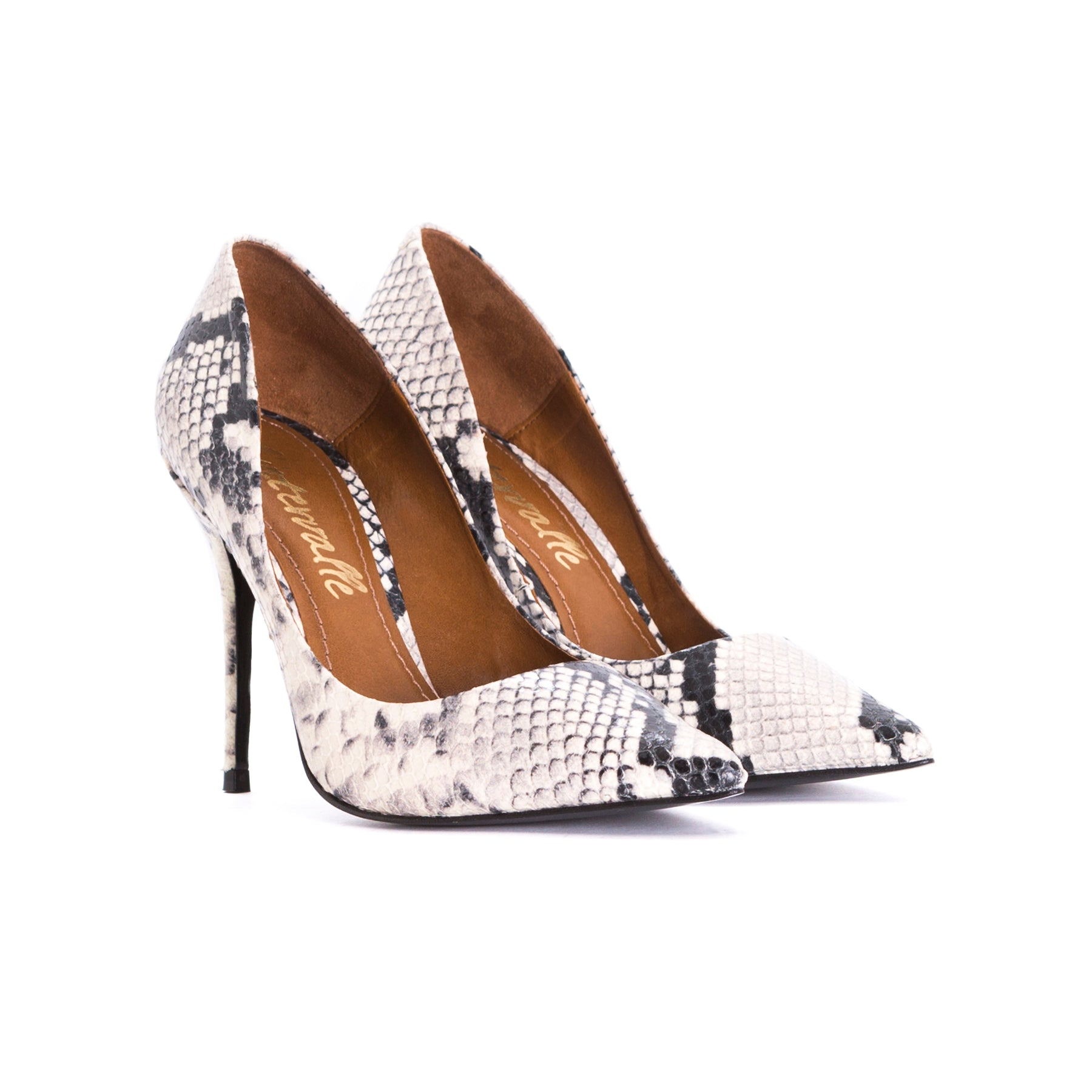 Teeva Natural Snake Leather Pumps