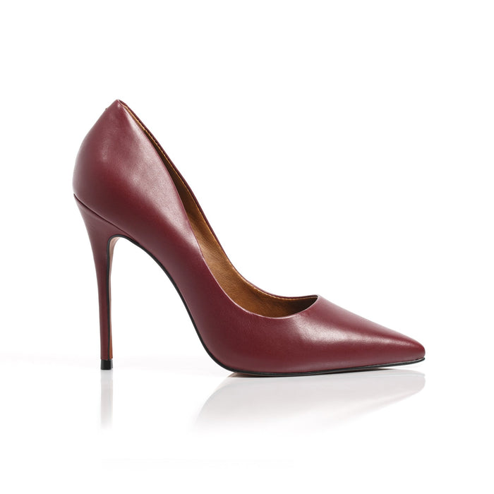 Teeva Plum Leather Pumps