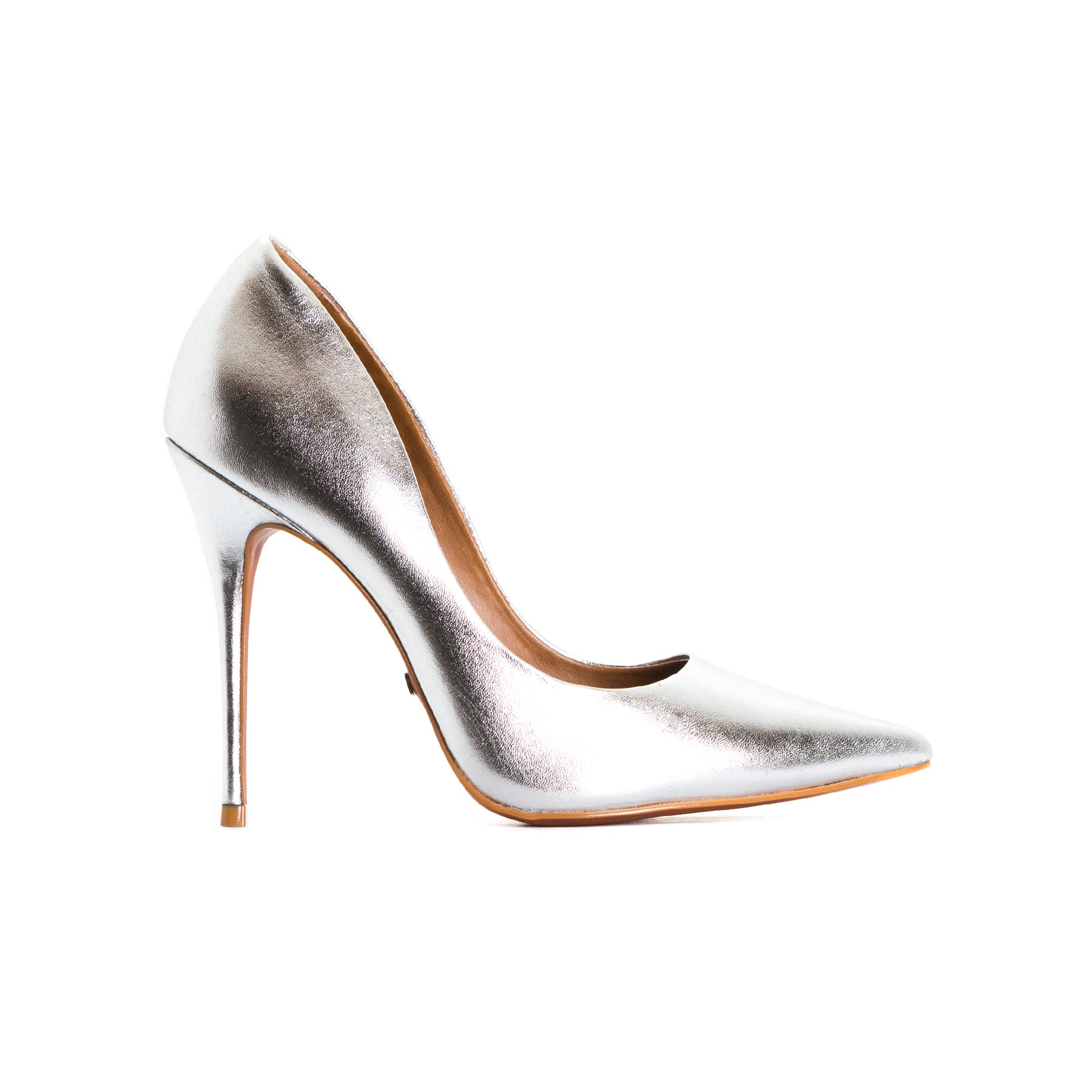 Teeva Silver Leather Pumps