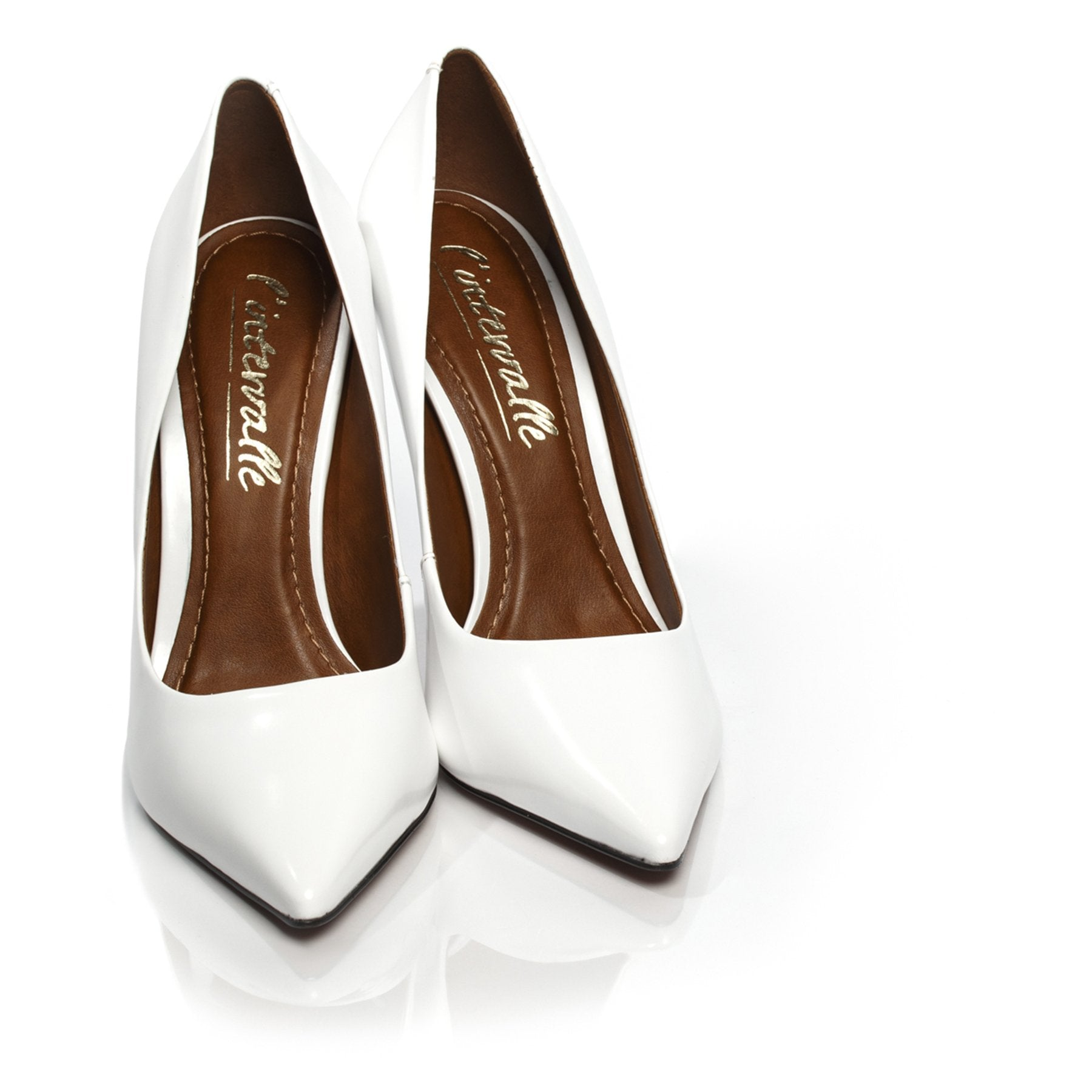 Teeva White Box Pumps