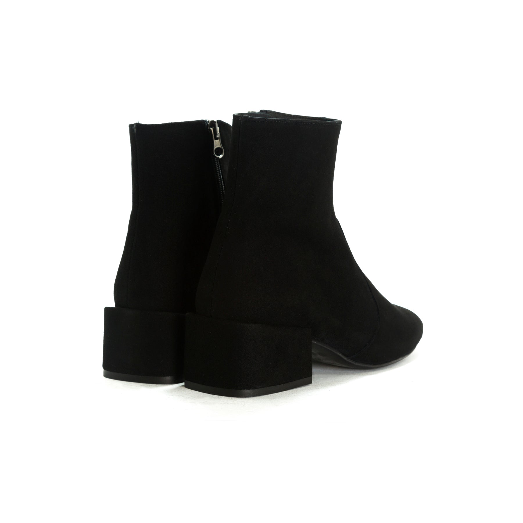 Thassos Black Suede Booties