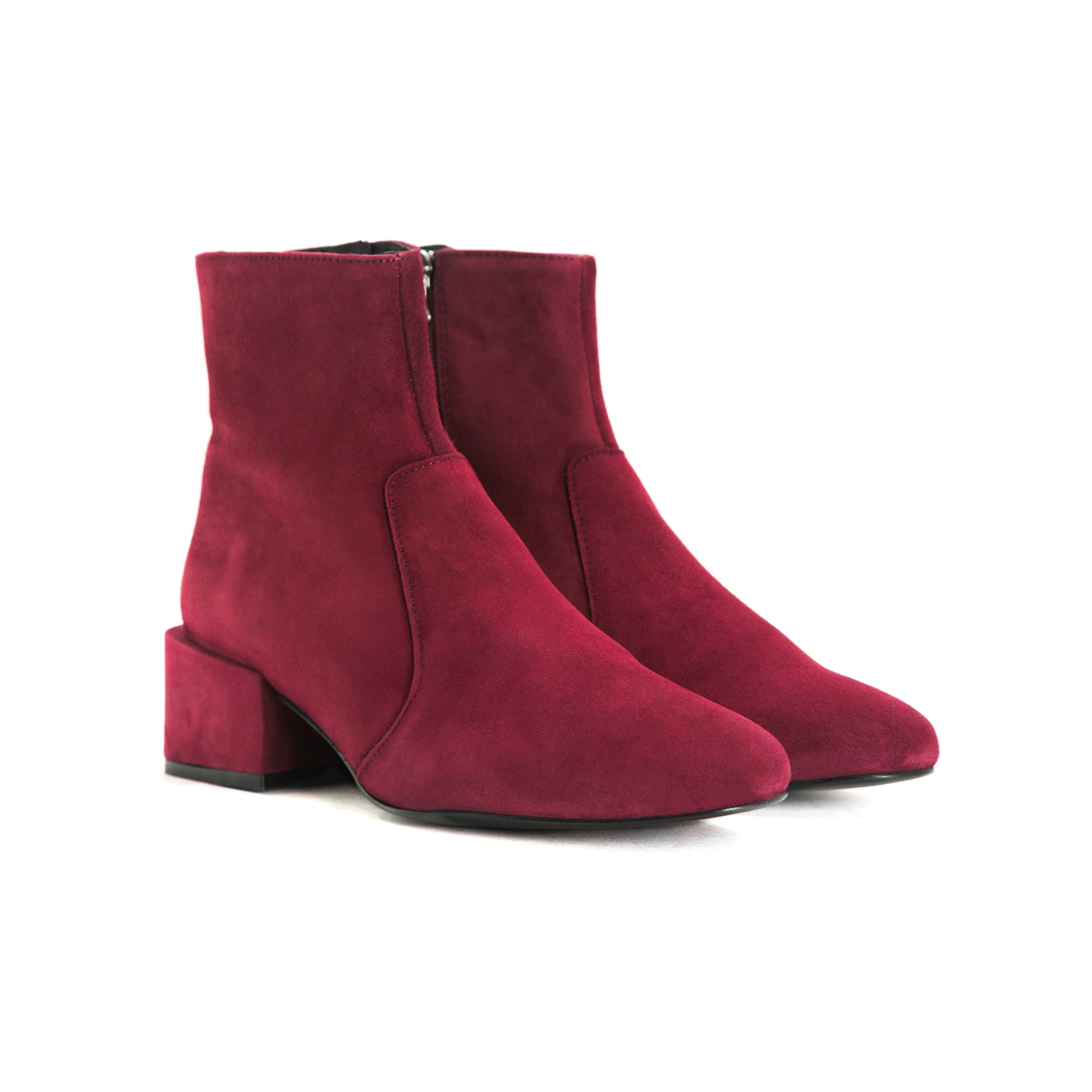 Thassos Bordo Suede Booties