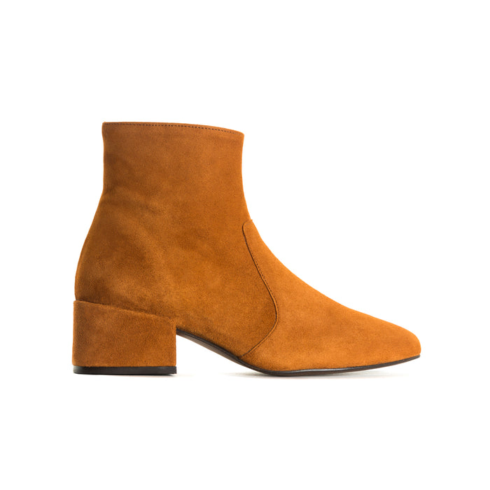 Thassos Tan Suede Booties