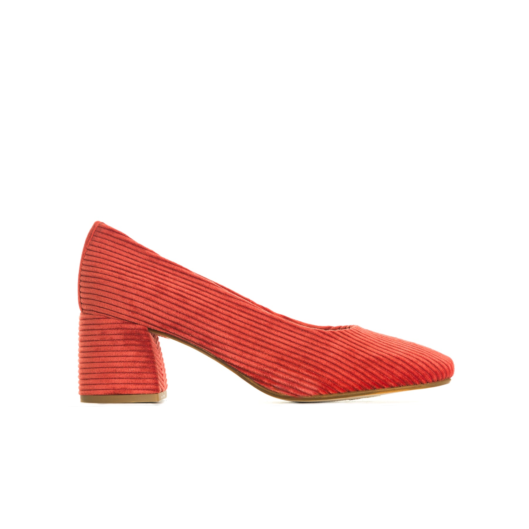 Trini Red Corduroy Pumps