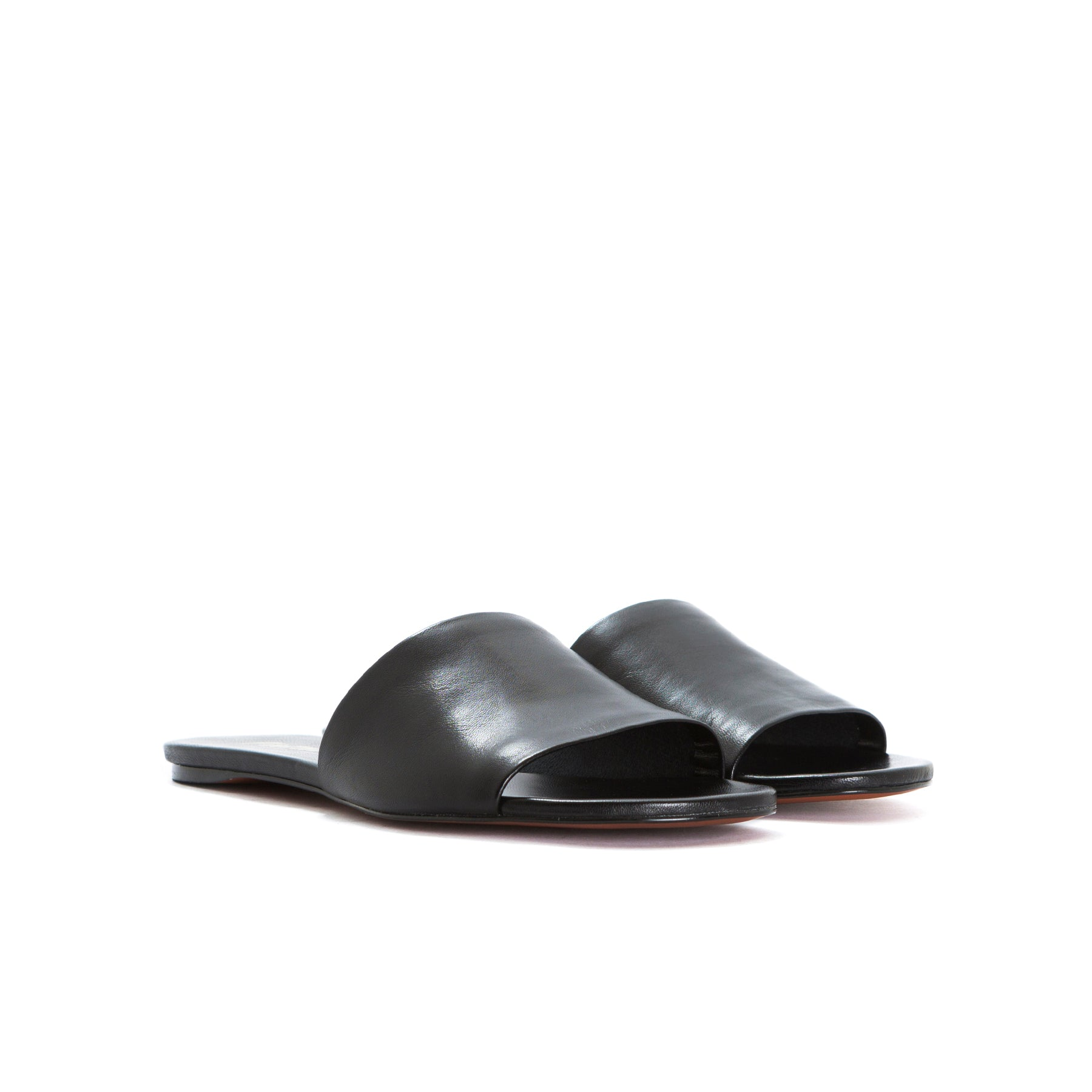 Varadero Black Leather Sandals