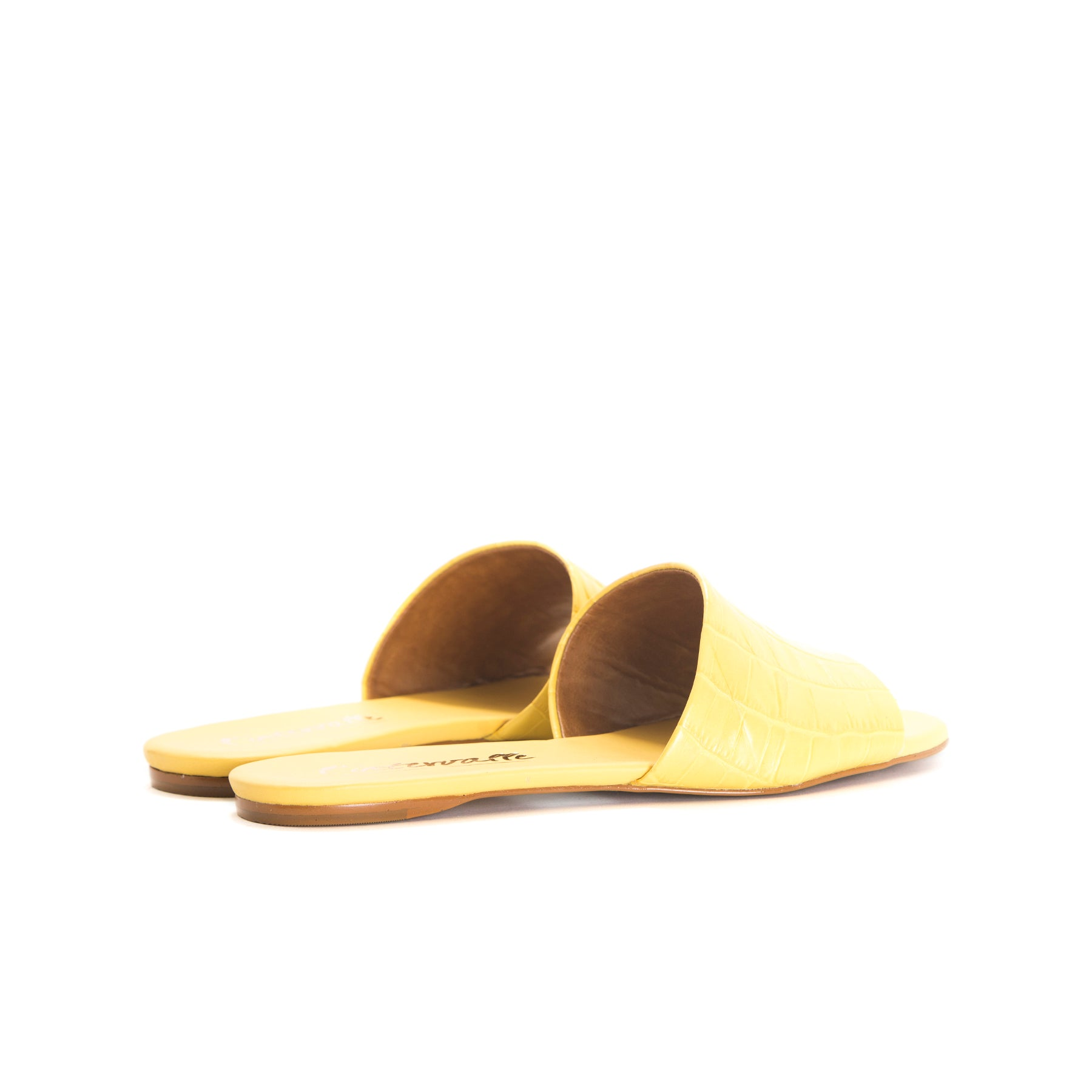 Varadero Melon Croco Leather Sandals
