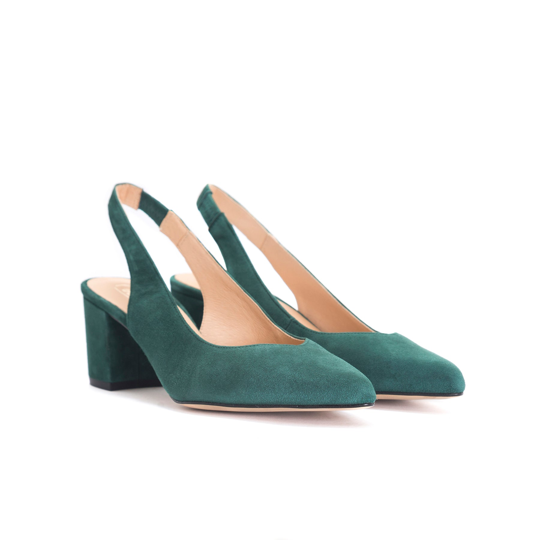 Vereda Green Suede Pumps