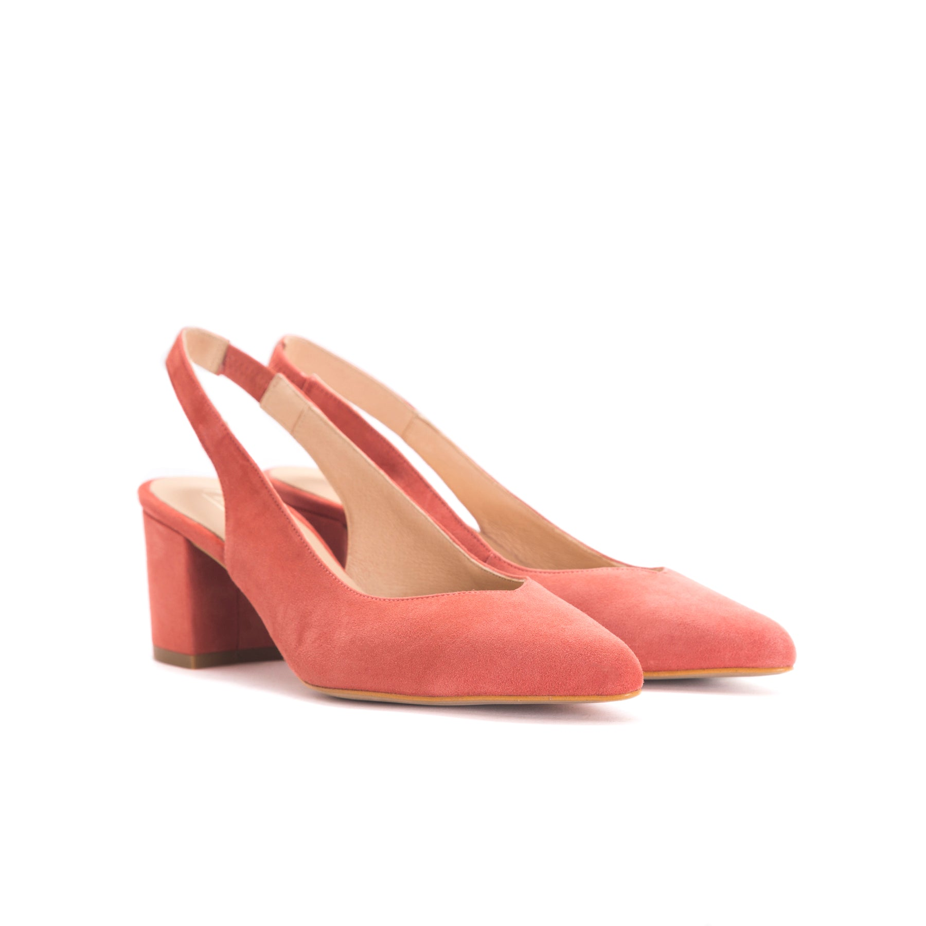 Vereda Orange Suede Pumps