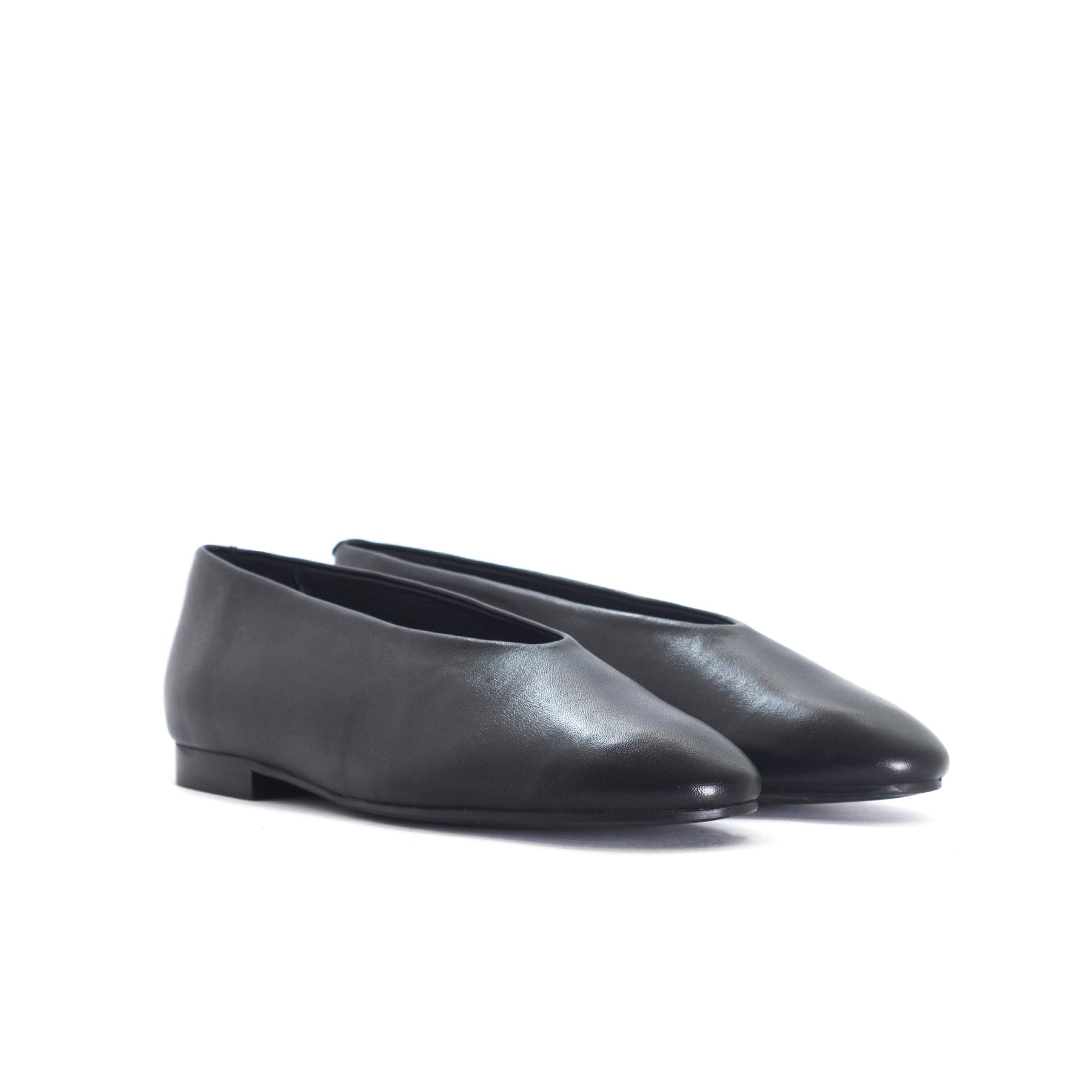 Virgo Black Leather Shoes