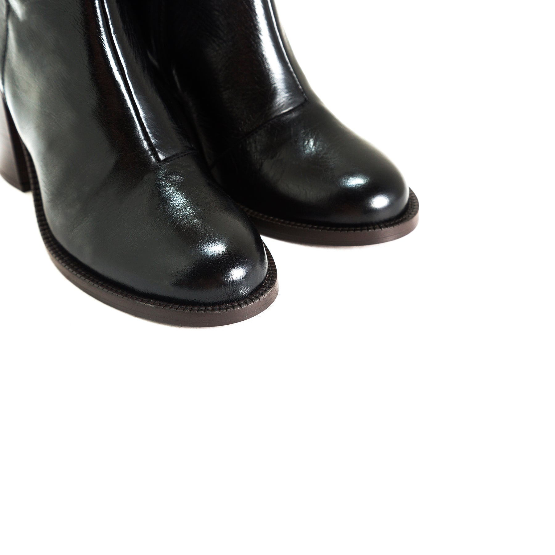 Waco Black Leather Booties