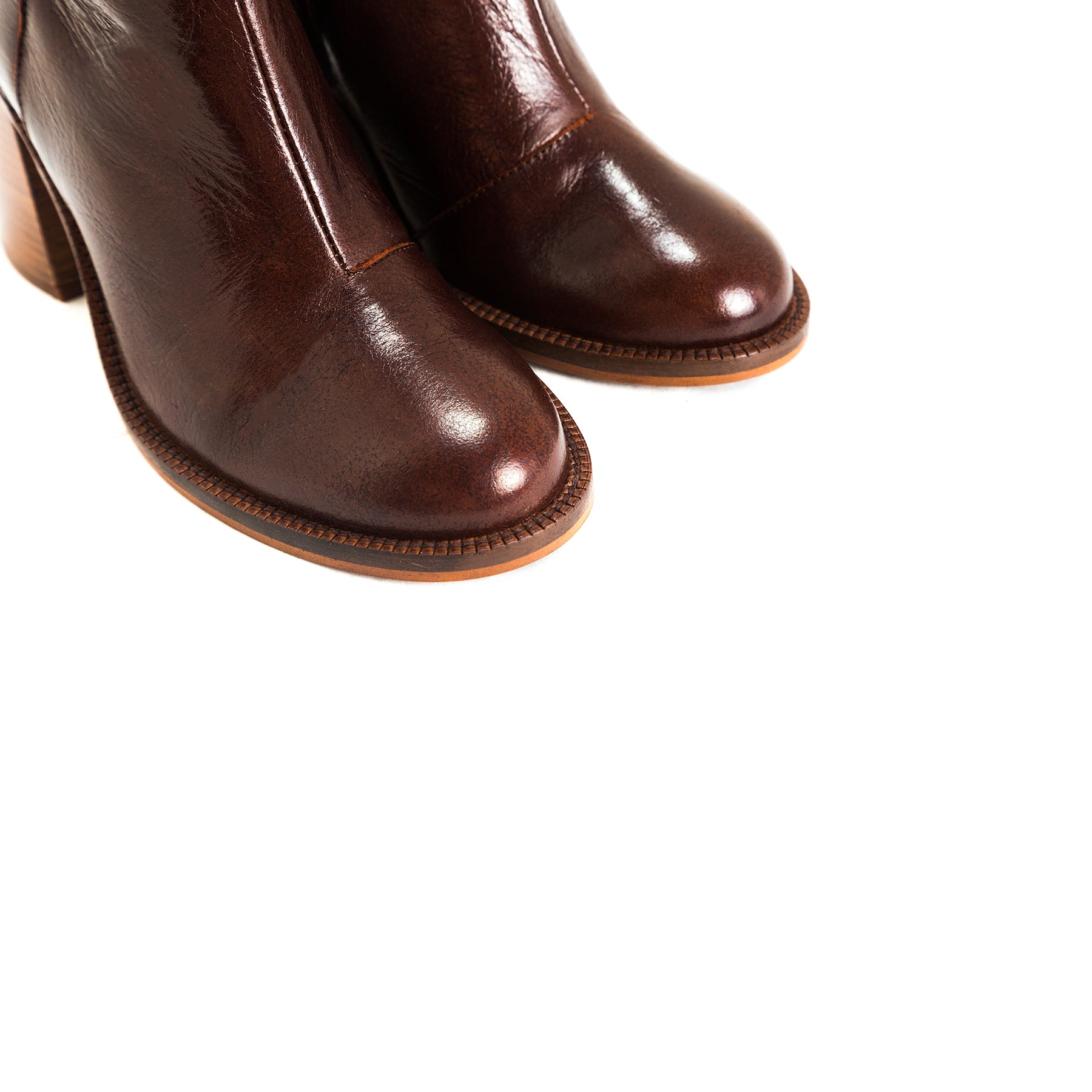 Waco Brown Leather Booties