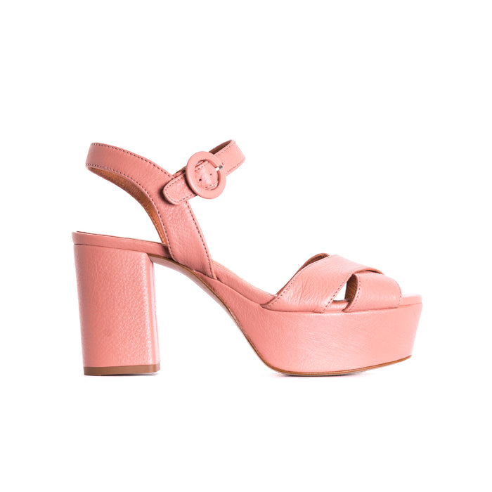 Whitney Mauve Leather Sandals