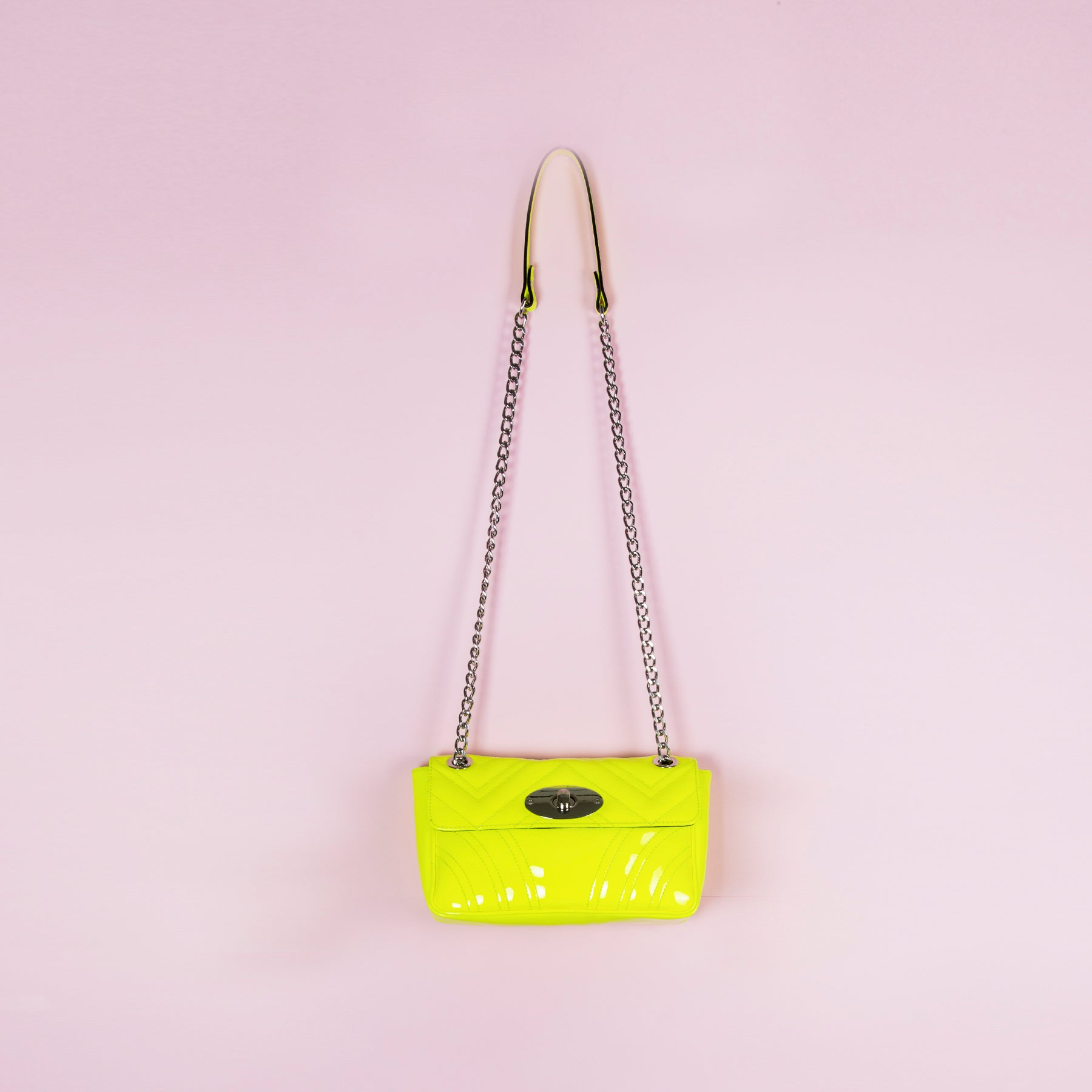 Juliet Neon Yellow Patent