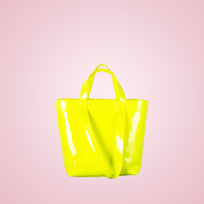 Claudine Neon Yellow Patent