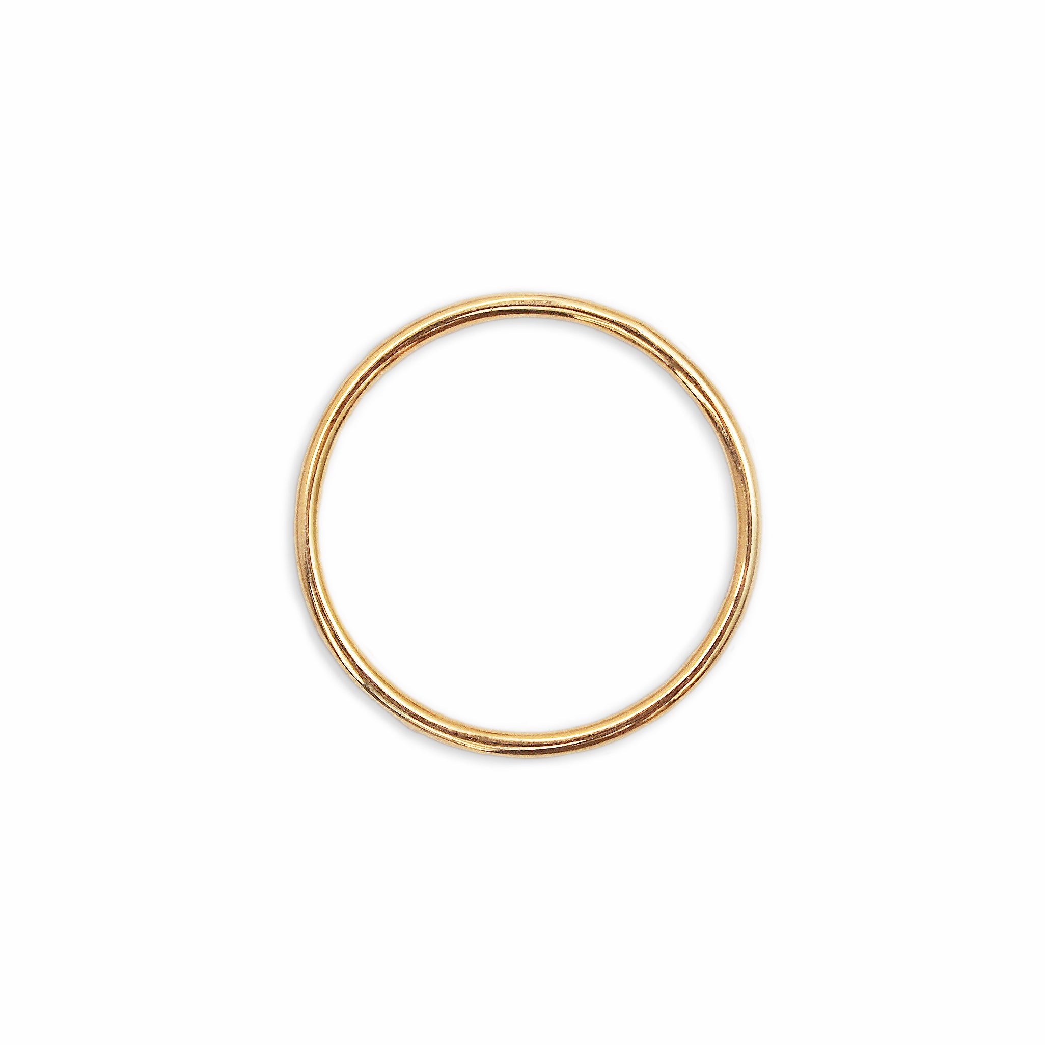 metallic lyst normal ring zoe jewelry goldclear thin gold set chicco bezel in rings product