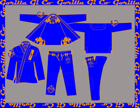 Gorilla Gi Co. - 2018 Highland Pro Trainer - Blue - Gorilla Gi Co. LLC