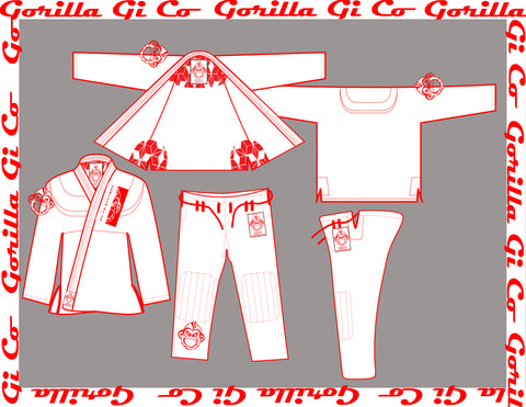 Gorilla Gi Co. - 2018 Highland Pro Trainer Kids - White
