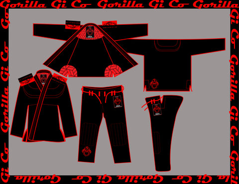 Gorilla Gi Co. - 2018 Lowland Comp Lite - Black