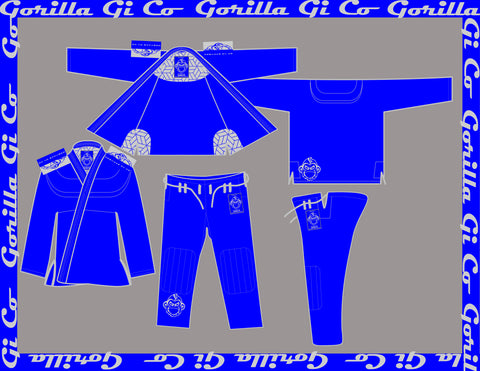 Gorilla Gi Co. - 2018 Lowland Comp Lite - Blue - Gorilla Gi Co. LLC