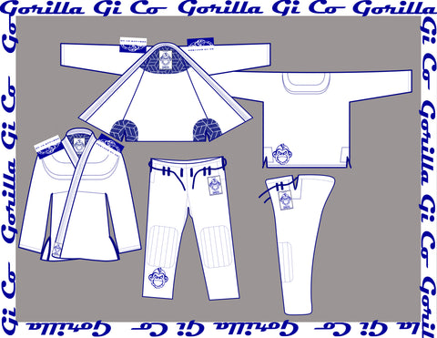 Gorilla Gi Co. - 2018 Lowland Comp Lite Kids - White