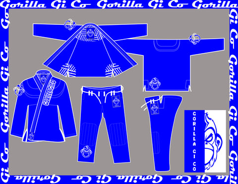Gorilla Gi Co. - 2018 Midland Pro Standard Kids - Blue - Gorilla Gi Co. LLC