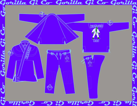 Gorilla Gi Co. - Kinston BJJ Gi Kids - Purple - Gorilla Gi Co. LLC