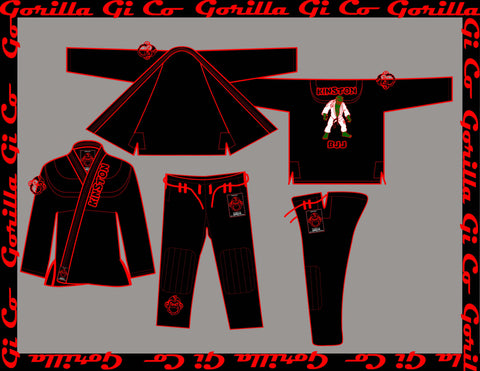 Gorilla Gi Co. - Kinston BJJ Gi Kids - Black - Gorilla Gi Co. LLC