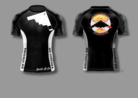 Gorilla Gi Co. - Whiteman AFB BJJ Adult Short-Sleeve Ranked Rashguard - Gorilla Gi Co. LLC