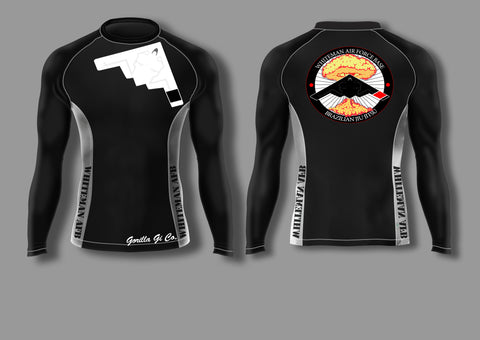 Gorilla Gi Co. - Whiteman AFB BJJ Adult Long-Sleeve Ranked Rashguard - Gorilla Gi Co. LLC